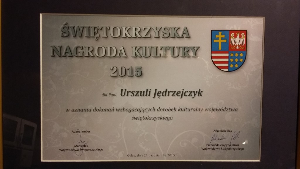 Nagroda dla Urszuli Jędrzejczyk